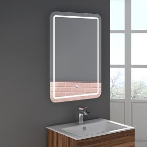 Boston 800 x 600mm Illuminated LED Mirror with Demister Pad
