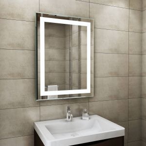Blanc 800 x 600mm Illuminated LED Mirror with Demister