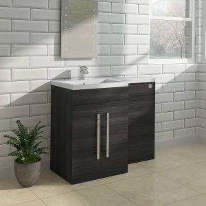 Calm Grey Left Hand Combination Vanity Unit Set (No Toilet)