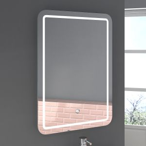 Boston 700 x 500mm Illuminated LED Mirror with Demister Pad
