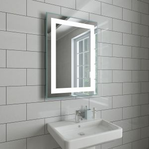 Blanc 700 x 500mm Illuminated LED Mirror with Demister