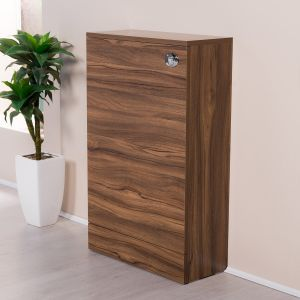 Milton Walnut 500mm Back to Wall Unit (No Toilet)