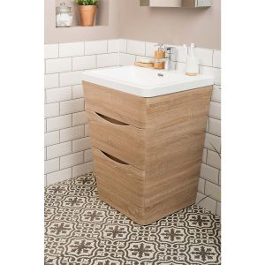 Peace Light Oak 650mm Vanity Unit & Basin