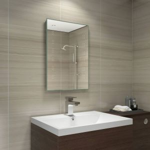 Delta 700 x 500 mm Battery Powered Illuminated LED Mirror