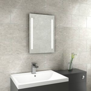 Snow 700 x 500 mm Battery Powered Illuminated LED Mirror