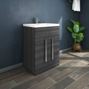 Calm Grey 600mm Freestanding Vanity Unit & Basin