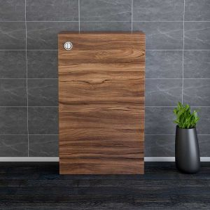 Calm Walnut Contemporary Rectangular Back to Wall Unit 500mm with Concealed Dual Flush Cistern (No Toilet/Pan)