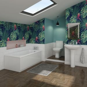 Feel Curved Bathroom Suite with 1700mm Bath