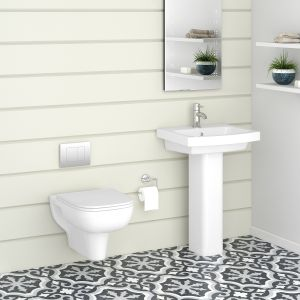 Aquila Wall Hung Toilet & Basin Cloakroom Suite