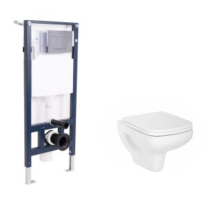 Aquila Wall Hung Toilet with Soft Close Seat and Wall Mounting Frame