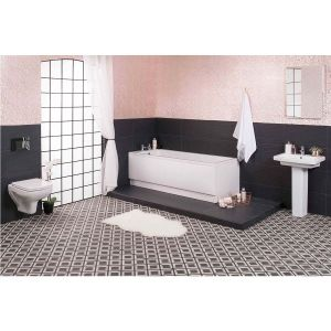 Aquila Wall Hung Bathroom Suite with 1700mm Bath