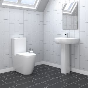Cordoba Close Coupled Toilet & Basin Cloakroom Suite