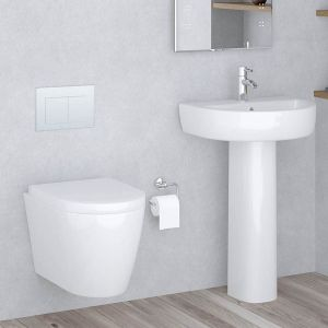 Cordoba Wall Hung Toilet & Basin Cloakroom Suite
