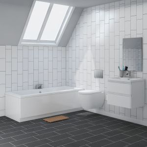 Cordoba Wall Hung Bathroom Suite with 1700mm Bath