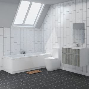 Cordoba Bathroom Suite with Wall Hung Vanity Unit
