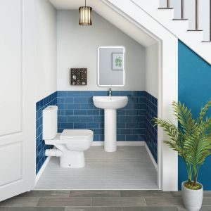Lima Close Coupled Toilet & Basin Cloakroom Suite