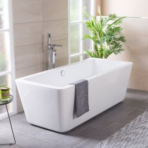 W@sh Squared 1800 x 800mm Luxury Freestanding Bath