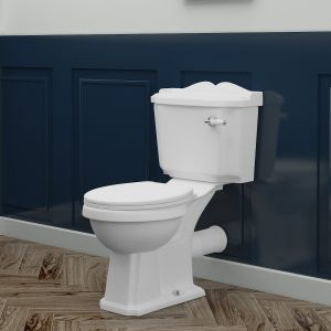 Abbey Traditional Close Coupled Toilet with Soft Close Seat