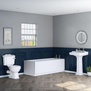 Abbey Traditional Bathroom Suite with 1700mm Bath