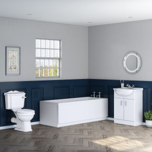 Traditional Toilet & Vanity Unit Suite