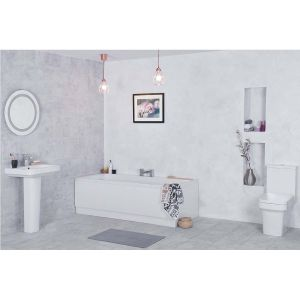 Avola Bathroom Suite with 1700mm Bath
