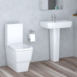 Aria Close Coupled Toilet & Basin Cloakroom Suite