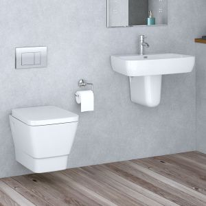 Aria Wall Hung Toilet & Basin Cloakroom Suite