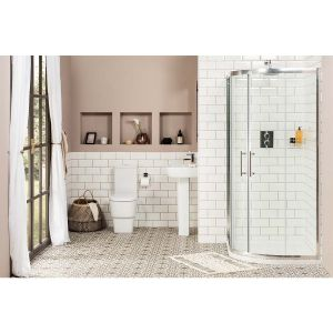 Aria 1200mm Offset Quadrant LH Shower Enclosure Suite with Easy Clean Glass