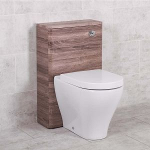 Harmony Oak 500mm Back to Wall Unit with Cordoba Toilet