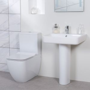 Edge Close Coupled Toilet & Basin Cloakroom Suite