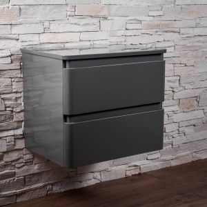 Wall Hung Vanity Unit - Gloss Grey