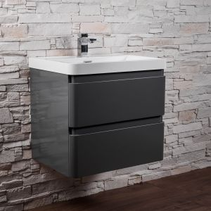 Gloss Grey Wall Hung Vanity Unit