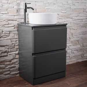 Grey Gloss Vanity Unit