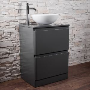 Grey Frestanding Combination Vanity Unit