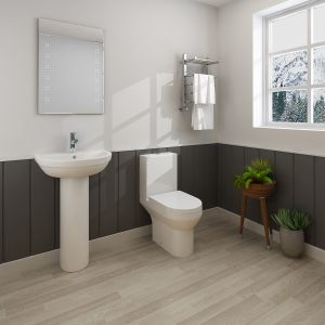 Calgary Close Coupled Toilet & Basin Cloakroom Suite