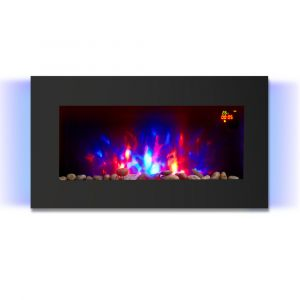 Warmehaus Genova - LED Electric Flat Wall Firecplaces 7 Flames Colours - 2000W