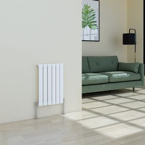 Karlstad 600 x 410mm White Single Flat Panel Horizontal Radiator