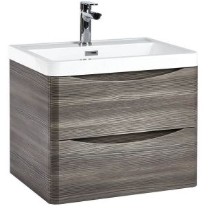 Imperio Bellissima - 600mm Wall Mounted Vanity Unit With Basin - Avola Grey