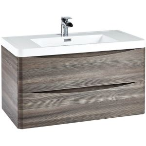 Imperio Bellissima - 900mm Wall Mounted Vanity Unit With Basin - Avola Grey