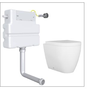 Cordoba Back to Wall Toilet with Soft Close Seat and Concealed Cistern
