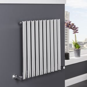 Norden Radiator 600 x 600 - Chrome - Single