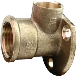 """Endfeed 22mm X 3/4"""" Wall Plate Elbow"""