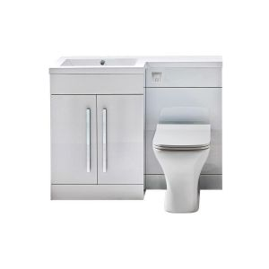 Imperio Rennes- 1100mm Left hand Combination Unit - Gloss White