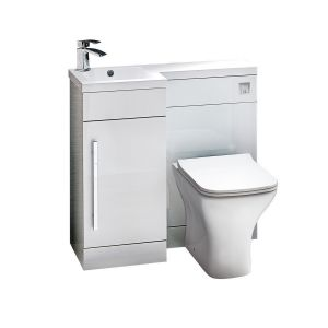 Imperio Rennes- 900mm Left hand Combination Unit - Gloss White