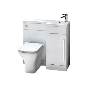 Imperio Rennes- 900mm Right hand Combination Unit - Gloss White