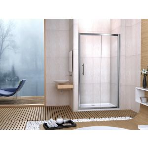 Aqua-I6 Single Sliding Shower Door 1200mm x 1850mm - Silver