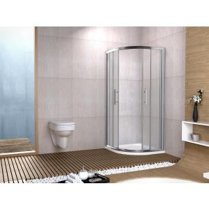 Aqua-I6 Quadrant Shower Enclosure 800mm x 800mm x 1850mm High - Sliver