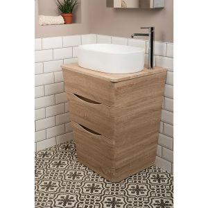 eace Light Oak 650mm Vanity Unit & Otsu Countertop Basin