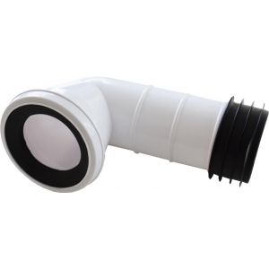 Bent Waste Pan Connector 90 Degree
