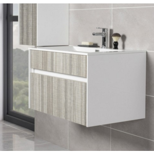 Peace Ash 800mm Wall Hung Vanity Unit & Basin